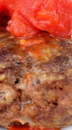 Hamburger Steaks with Tomato Gravy are seasoned hamburger patties are cooked and topped with a creamy seasoned tomato gravy. Hamburger Steaks, Hamburger Meat Recipes, Best Beef Recipes, Ground Beef Recipes, Cooking Recipes, Favorite Recipes, Delicious Recipes, Cooking Beef, Yummy Food