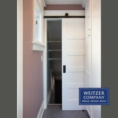 Better use of space and added storage were some of the improvements in this kitchen remodel design. By replacing the old outward swinging door with a sliding barn door, the space in front could then be used for adding pantry style cabinets without worrying about door conflicts. @nationalbuildershardware #HendersonDaughter @sherwinwilliams #rosalinepearl #beforeandafter #thenandnow #designbuild #interiordesign #interiors #pdxarchitecture #pdxcontractor #pdxdesign #pdxremodel… Barn Style Doors, Swinging Doors, Construction Services, Cabinet Styles, Building Design, Pantry, Kitchen Remodel, Locker Storage, Cabinets