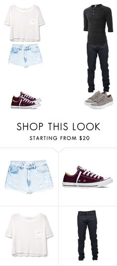 """""""Women VS Men"""" by little-stylist ❤ liked on Polyvore featuring MANGO, Converse, Yves Saint Laurent, LE3NO and Vince"""
