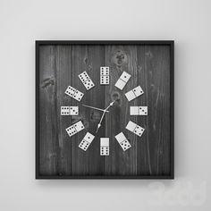 Самодельные часы из домино