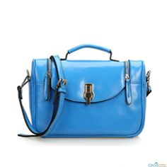 Add attraction to your look with Sky Blue Sling Bag from Oasis Leather.