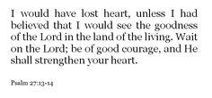 Psalm 27:13-14