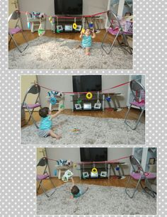Ata uzanir ve oyuncaklari toplar :) #10aylikbirAtaErk #babysensory #sensoryplay #etkinlikzamani #montessori