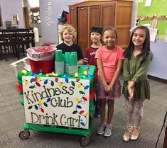 These superheroes from their school's Kindness Club are service their teachers from the Drink Cart! School Clubs, School Staff, School Counselor, Student Gifts, Teacher Gifts, Teacher Morale, Service Club, Morale Boosters, Student Leadership