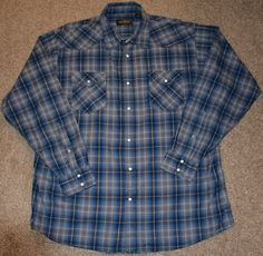 Redhead Men's Size XL Vintage Western Rockabilly Shirt with Snap Buttons