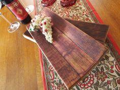 Wine barrel oak medium serving tray 16x7 by EarthWineandBarrel, $47.20
