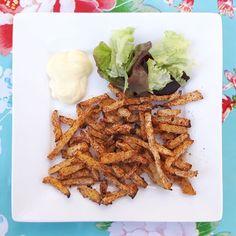 Koolraap frietjes / koolraap patat / gezonde patat / gezonde friet / kohlrabi fries - Het keukentje van Syts
