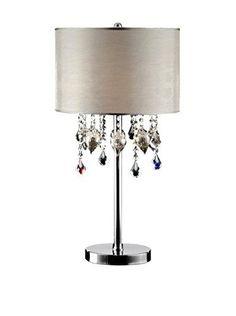 Ore International K 5125T 29 Inch Drape Crystal . Ceiling FansDrapingTable  LampsConsumer ...