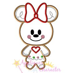 Christmas Gingerbread Minny Applique Embroidery Machine Saying Design 4 hoop sizes Instant Download by appliqueswcharacter on Etsy