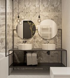 Contemporary bathrooms look clean cut and fresh, always with stylish details too, to pull the finishing look together. Modern contemporary bathrooms can. Hotel Bathroom Design, Bath Design, Hotel Bathrooms, Design Hotel, Luxurious Bathrooms, Restroom Design, Chic Bathrooms, House Design, Large Bathrooms