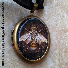 Perfume Locket Pendant - Victorian Steampunk 'Steam Bee,' Brigid Ashwood, $48.00
