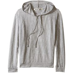 Michael Stars Long Sleeve Mesh Hoodie (Heather Grey) Women's... ($60) ❤ liked on Polyvore featuring tops, hoodies, grey, heather gray hoodie, grey pullover hoodie, gray hoodie, pullover hoodie and mesh hoodie