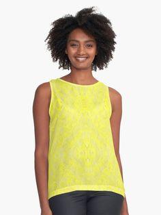Radiant Yellow Sunshine  Sleeveless Top