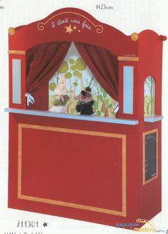 Wooden Puppet Theater - 117 x 78 x cm Diy For Kids, Gifts For Kids, Puppetry Theatre, Wooden Puppet, Toy Theatre, Shadow Theatre, Marionette, Diy Inspiration, Dot And Bo