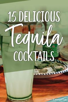 Tequila Cocktails - 15 of the Best to Enjoy - Trend Cocktail Recipes 2019 Cocktail Menu, Cocktail Glass, Signature Cocktail, Cocktail Recipes, Drink Recipes, Sunrise Cocktail, Tequila Sunrise, Tequila Tequila, Fun Drinks