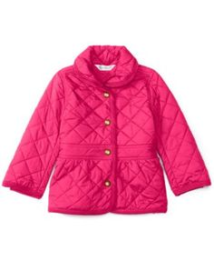 Ralph Lauren Baby Girls' Corduroy-Trim Barn Jacket $39.99 Keep her warm on brisk days with this corduroy-trimmed barn jacket from Ralph Lauren. An A-line silhouette gives the classic quilted style a sweet sensibility.