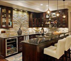 granite bars basement | need help deciding on a backsplash for my basement bar stone and glass ...