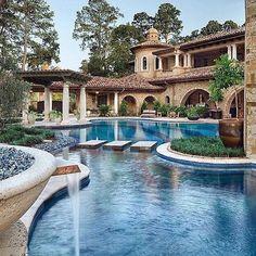 Tuscan style – Mediterranean Home Decor Mansion Homes, Dream Mansion, Mansion Interior, Mega Mansions, Luxury Mansions, Luxury Homes Dream Houses, Dream Pools, Tuscan Style, Mediterranean Style
