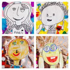 Prachtige kunstwerken van groep 4 bij het thema Ik/jij/wij van #topondernemers
