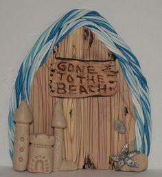 Gone to the BEACH Miniature Fairy Door Fairy Garden by sewaddictd