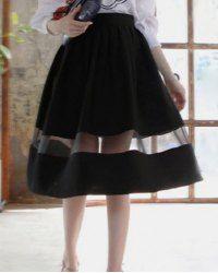 $8.65 Mesh single stripe skirt