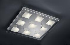 627910906 Trio - LED stropnica - chróm/sklo - 600mm