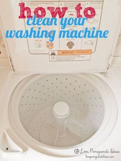 how to clean washing machines. I do this every other month; depends on how often you need to wash clothes.