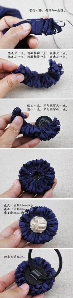 DIY - Fleurs en tissus