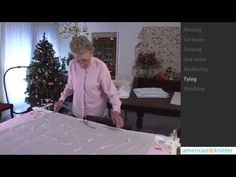 How to Quilt for Beginners - YouTube ~ Square knot anchoring, double outer seams,turning, rolling quilt 4 easier access to the center  etc
