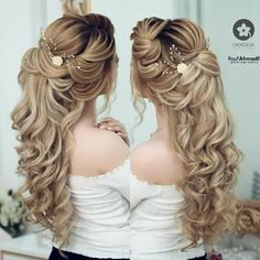 Bridal Hair And Makeup, Hair Makeup, Bride Hairstyles, Cool Hairstyles, Simple Prom Hair, Hair Creations, Hair 2018, Hair Vine, Ih