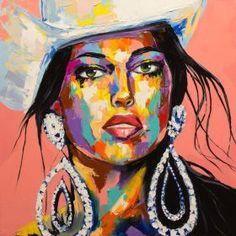 """Pink Rose"" by Anna Davis - Oil on Canvas - 24"" X 24""."