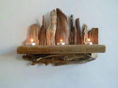 drift  wood art | Driftwood-candle-shelf-wall-sconce-wall-art-driftwood-sculpture-length ...
