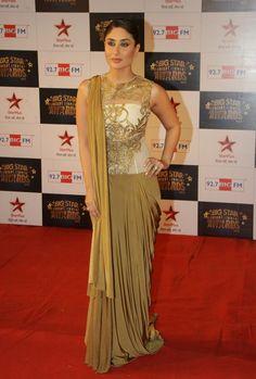 Karrena Kapoor in Gujarati saree drape, gujarati saree 2014 by kareena