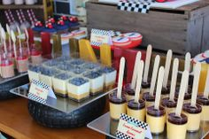 Party Inspirations: Vintage Car themed Dessert Table by Rainbow & Lollipops Dessert Table Birthday, Birthday Party Desserts, Party Sweets, Cars Birthday Parties, Party Cakes, Dessert Tables, Maserati, Lamborghini, Bugatti