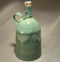 Stoneware flip top beer growler. by jonwhitney on Etsy, $48.00