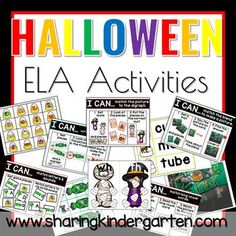 Halloween ELA Activities - Sharing Kindergarten