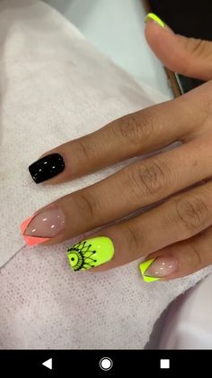 Summer Gel Nails, Cute Acrylic Nails, Hot Nails, Nail Art Diy, Beauty Nails, Nail Colors, Nail Art Designs, Makeup, Nail Design
