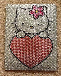 Used Hello Kitty Rhinestone Ipad Case - 1st Generation