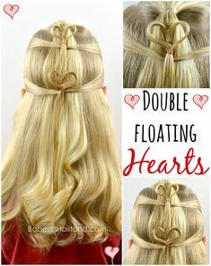Double Floating Hearts | Valentine's Day Hairstyle
