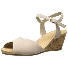 16133605c318 Aerosoles Womens Cupcake Beige Wedge Sandals Shoes 8.5 Medium (B