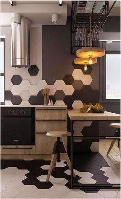 Cerámicos Hexagonales Conquistando el mercado del revestimiento cerámico, los hexágonos son la forma más elegida! Son el elemento perfecto si querés dar a tus espacios un toque de originalidad.. Son modernos, decorativos y adaptables a cualquier rincón de tu hogar. Se pueden usar en paredes, pisos, baños, cocinas. Utilizar el mismo patrón de color o combinarlos. Disponibilidad: En 11 x 12,5cm: blanco y negro En 20 x 23cm: blanco, negro y cemento
