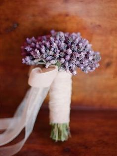Love this sweet simple bouquet for the bride. Plan My Wedding, Our Wedding, Dream Wedding, Wedding Ideas, Bride Bouquets, Bridesmaid Bouquet, Purple Wedding, Wedding Flowers, Wedding Lavender