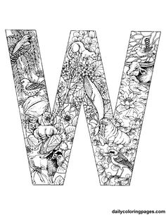 w-animal-alphabet-letters-to-print.png (612×792)