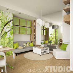 Salon w zieleniach - zdjęcie od MIKOŁAJSKAstudio - Salon - Styl Nowoczesny - MIKOŁAJSKAstudio