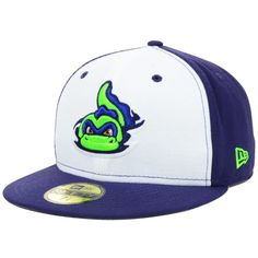 New Era Vermont Lake Monsters 59FIFTY Cap ($35) ❤ liked on Polyvore featuring accessories, hats, mlb caps, baseball cap hats, mlb hats, baseball hats and new era hats