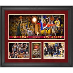 "Cleveland Cavaliers Fanatics Authentic Framed 20"" x 24"" 2016 NBA Finals Champions Collage Second Edition with Game 4 Finals Basketball - Limited Edition of 150 - $199.99"