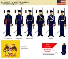 Regt Of Mounted Riflemen American c1846