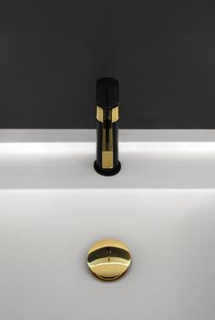 Martini Luxe Basin Mixer, Polished Gold and Matte Black. Bathroom Tapware, Bathroom Showrooms, Bathrooms, Basin Mixer, Matte Black, Martini, Wall Lights, Gold, Instagram