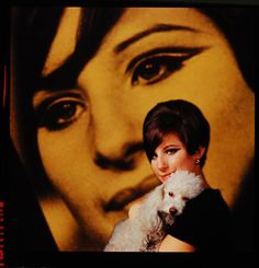 A beautiful 60s portrait of Barbara Streisand with (presumably her pet) poodle photographed by Bill Eppridge