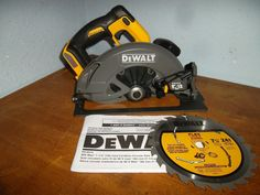 "DCS575B FLEXVOLT™ 60V MAX 7-1/4"" (184mm) CIRCULAR SAW w/Brake BARE. DEWALT FLEXVOLT DCS575 Circular Saw Review - YouTube. DEWALT's new FLEXVOLT Battery. System 60V. Brushless motor - Maximized for run time and durability 5800RPM optimized speed for quality cuts with speed. 